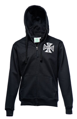 Iron Cross Hoodie Zip black