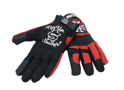 Riding Gloves black/red