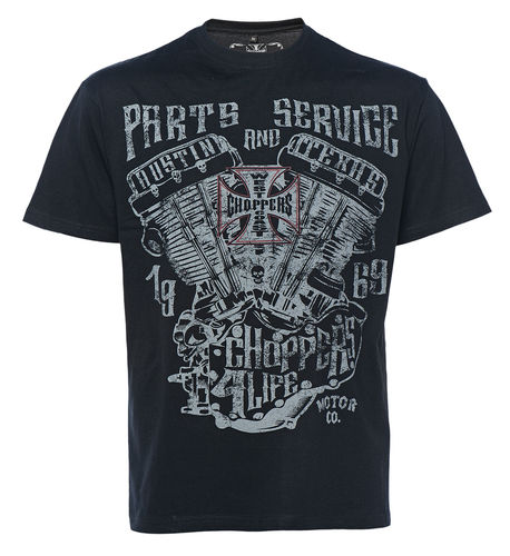 Parts and Service tee solid black