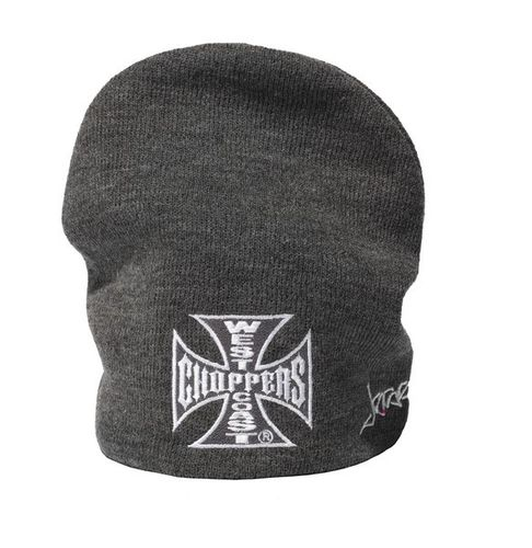 Iron Cross Basic Grey Beanie
